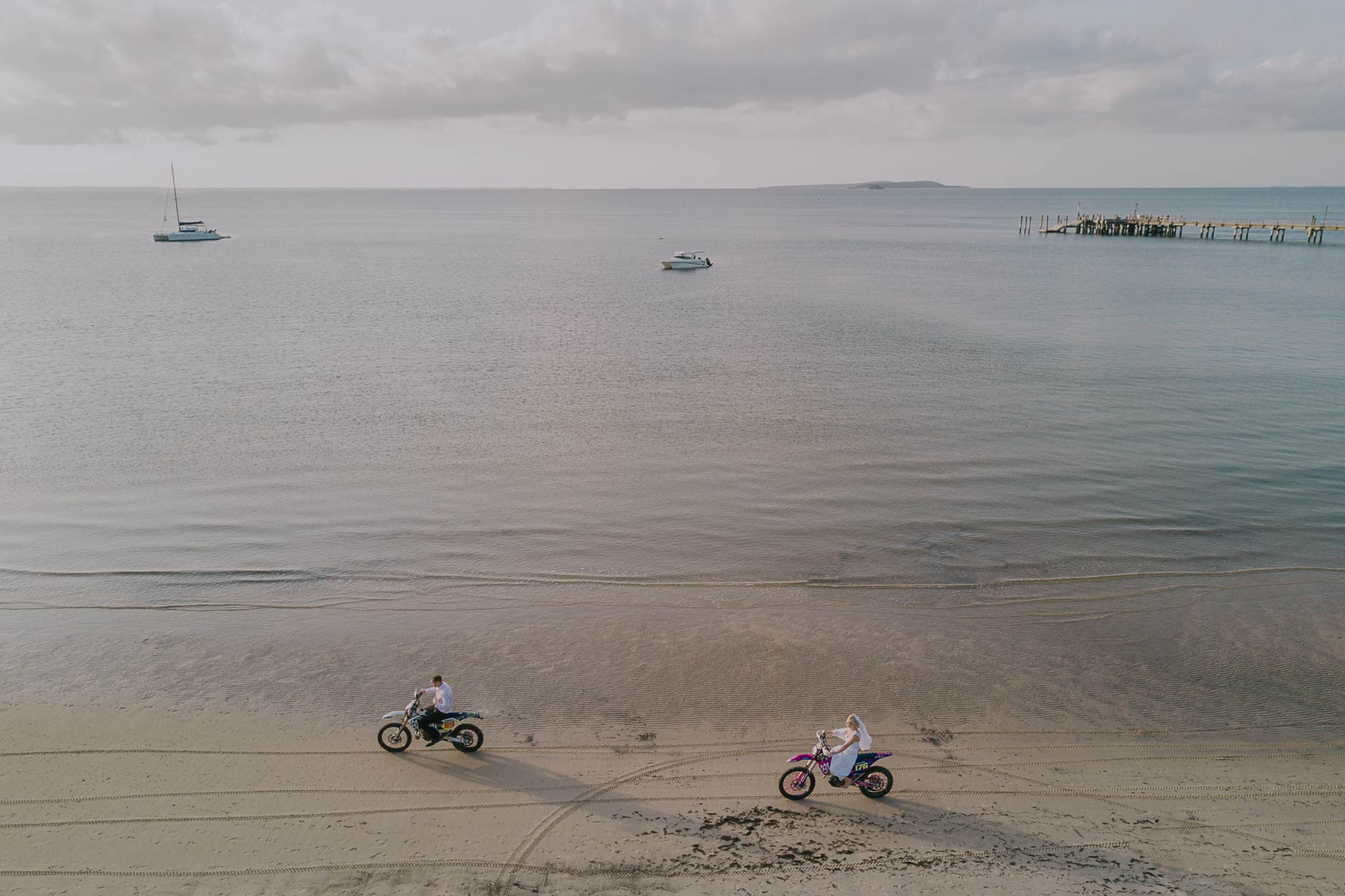 Noosa Beach Motorbike Drone Pre Wedding Photographer - Sunshine Coast, Queensland, Australian Blog