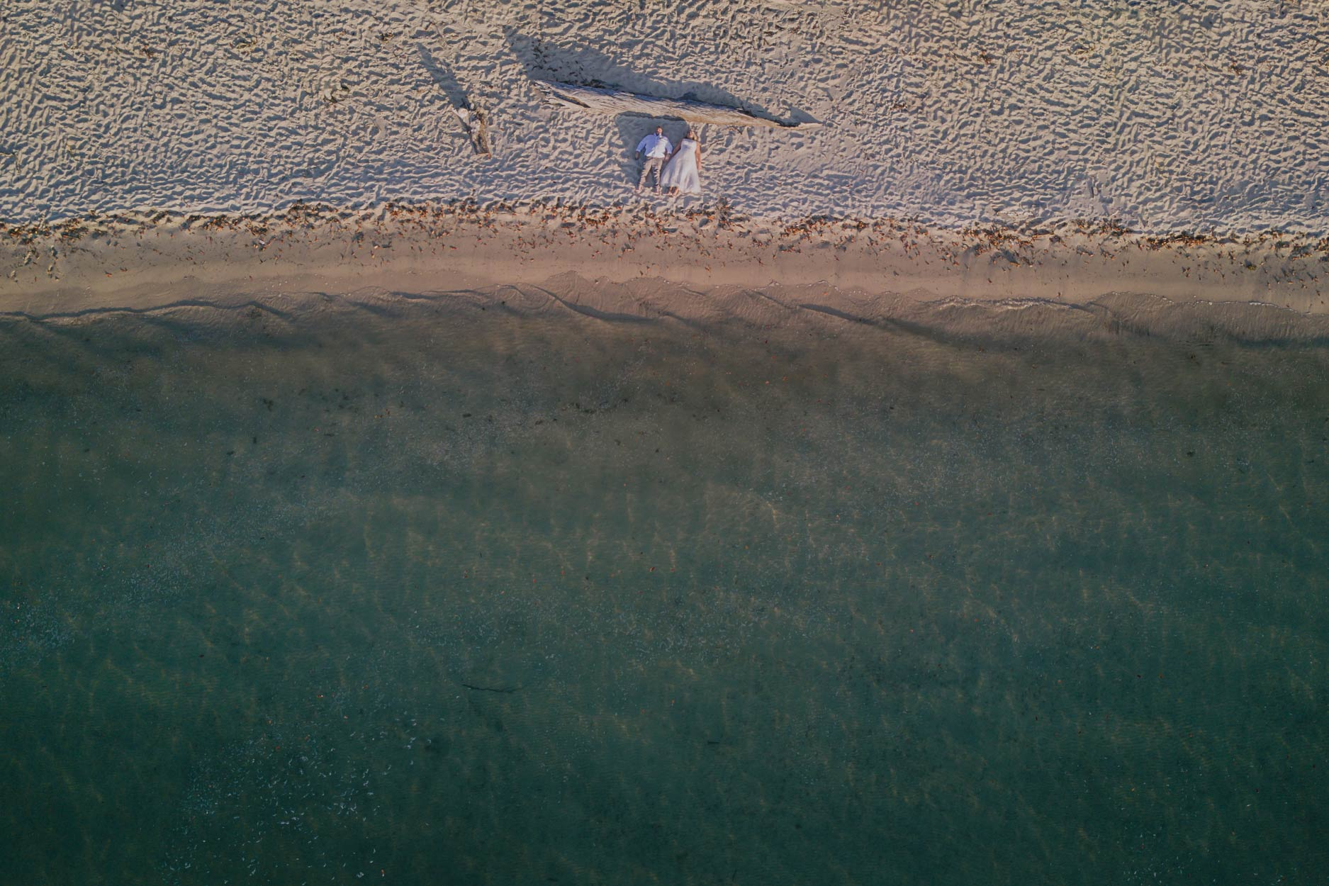 Fraser Island Beach Drone Pre Wedding Photographer - Sunshine Coast, Queensland, Australian Pics