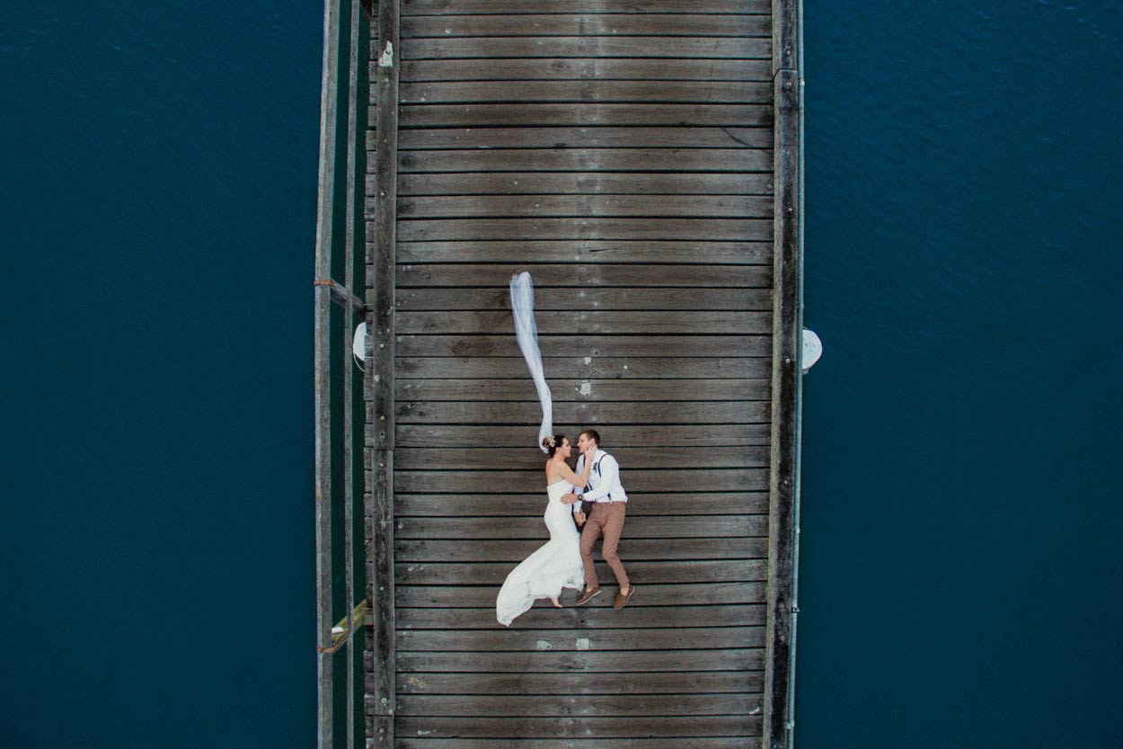 Natural Noosa River Destination Photographers - Brisbane, Sunshine Coast, Australian Wedding Drone