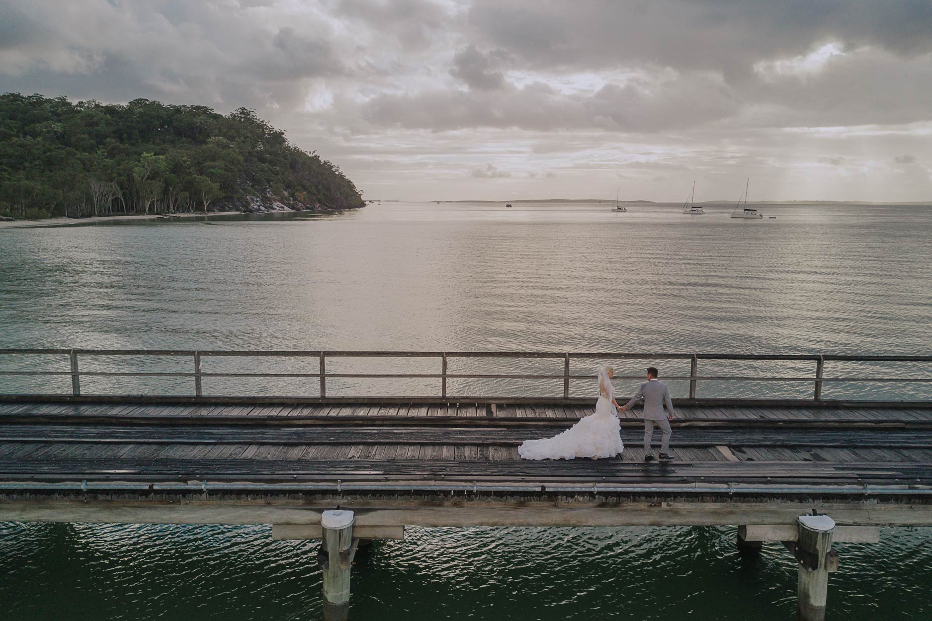 Top Noosa Heads Beach Destination Wedding - Sunshine Coast, Brisbane, Australian Drone Photographers