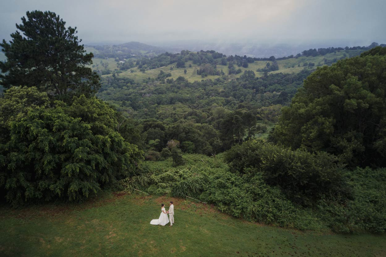 Flaxton Gardens Aerial Drone Pre Wedding Photographer - Sunshine Coast, Queensland, Australian Blog