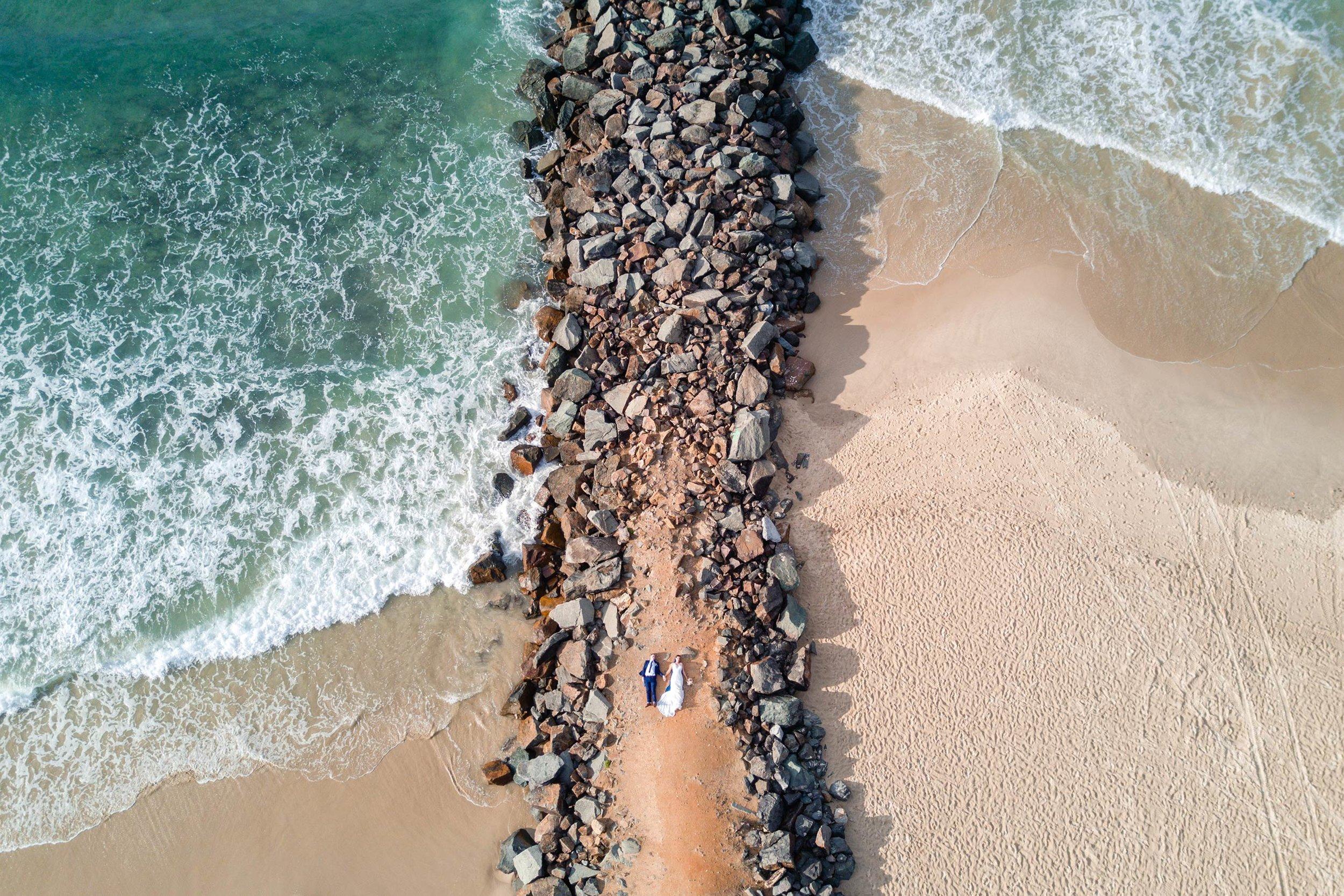 Noosa Beach to Caloundra Destination Wedding Drone Photographers, Queensland - Top Sunshine Coast, Australian Blog Pics
