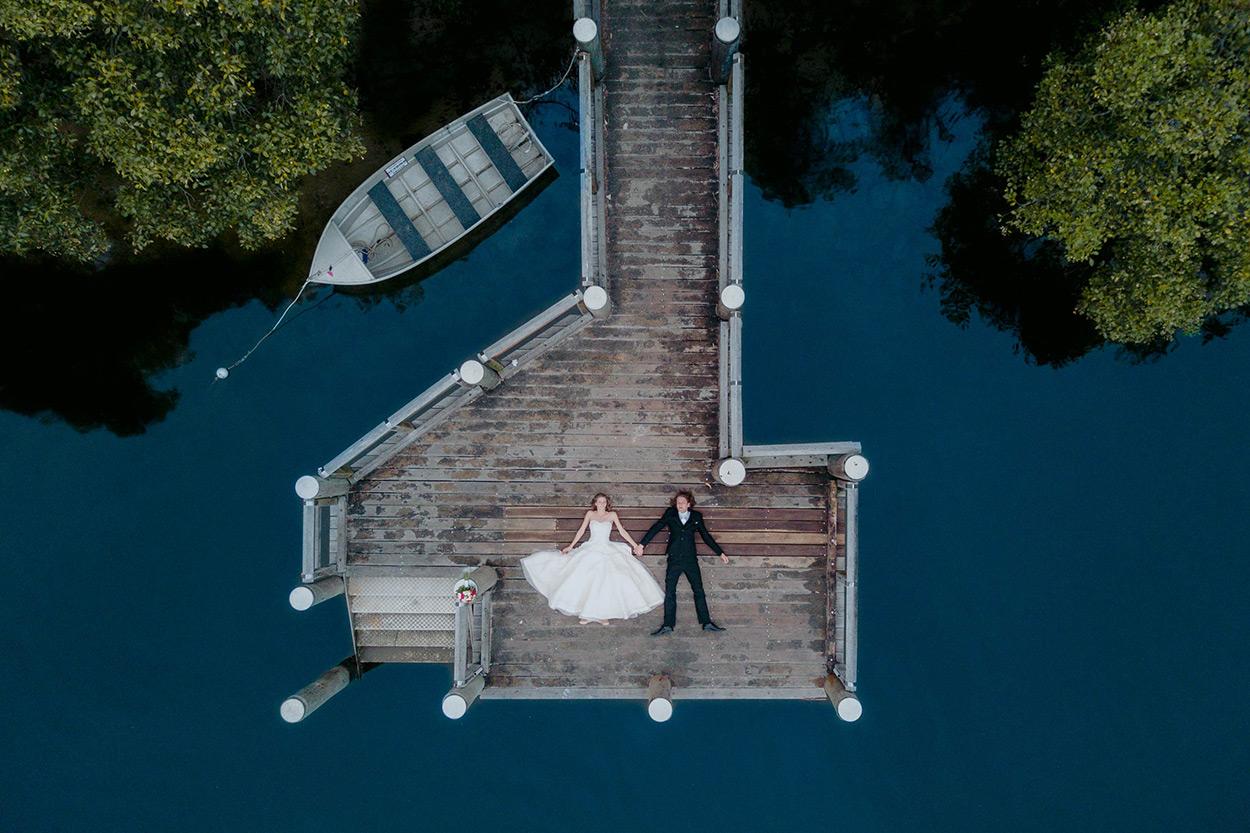 Noosa Drone Destination Wedding Photographer - Sunshine Coast, Queensland, Australian Trash The Dress Blog