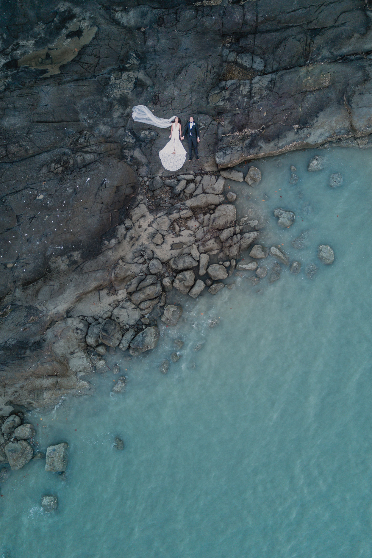 Noosa Drone Destination Wedding Photographer - Sunshine Coast, Queensland, Australian Trash The Dress Blog
