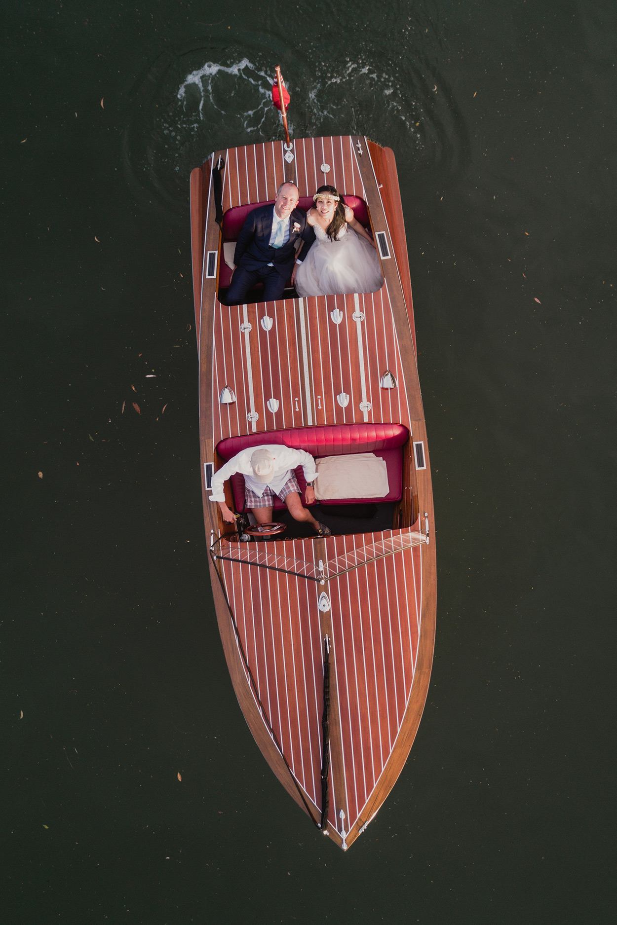 Noosa Pre Destination Wedding Photographers - Sunshine Coast, Queensland, Australian Drone Dream Boat Photos