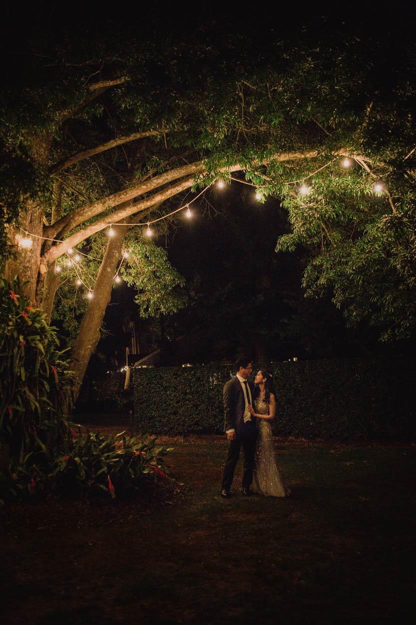 Creative Night Shot Fine Art Wedding Photographer - Gabbinbar Estate, Toowoomba & Sunshine Coast, Australian Destination
