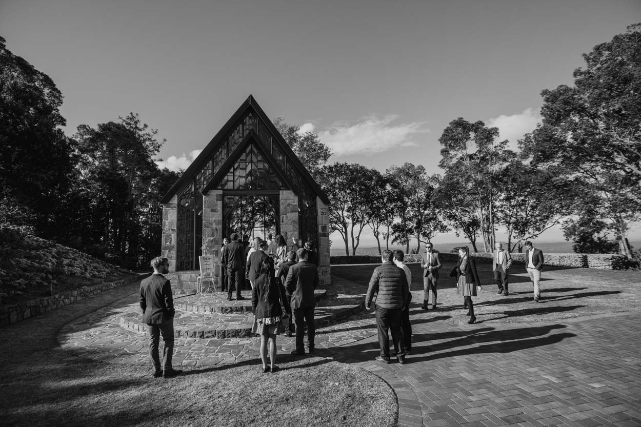 Fine Art The Chapel Montville Destination Wedding Photographers - Queensland, Australian Drone Photography Blog