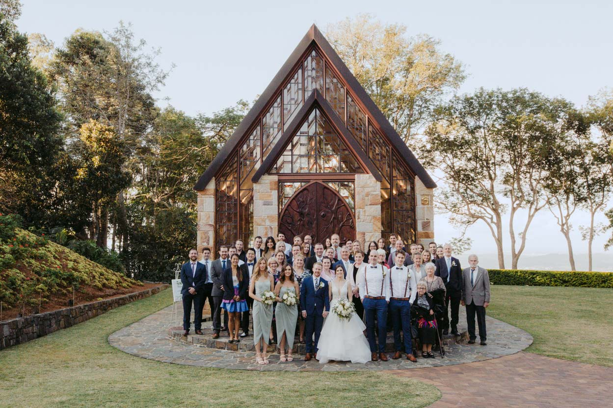 The Chapel Montville Destination Wedding Photos - Sunshine Coast, Queensland, Australian Photographer Group Photo