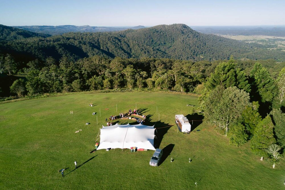 Maleny Retreat Hinterland Drone Destination Wedding Photographers, Sunshine Coast - Queensland, Australian Blog Photos