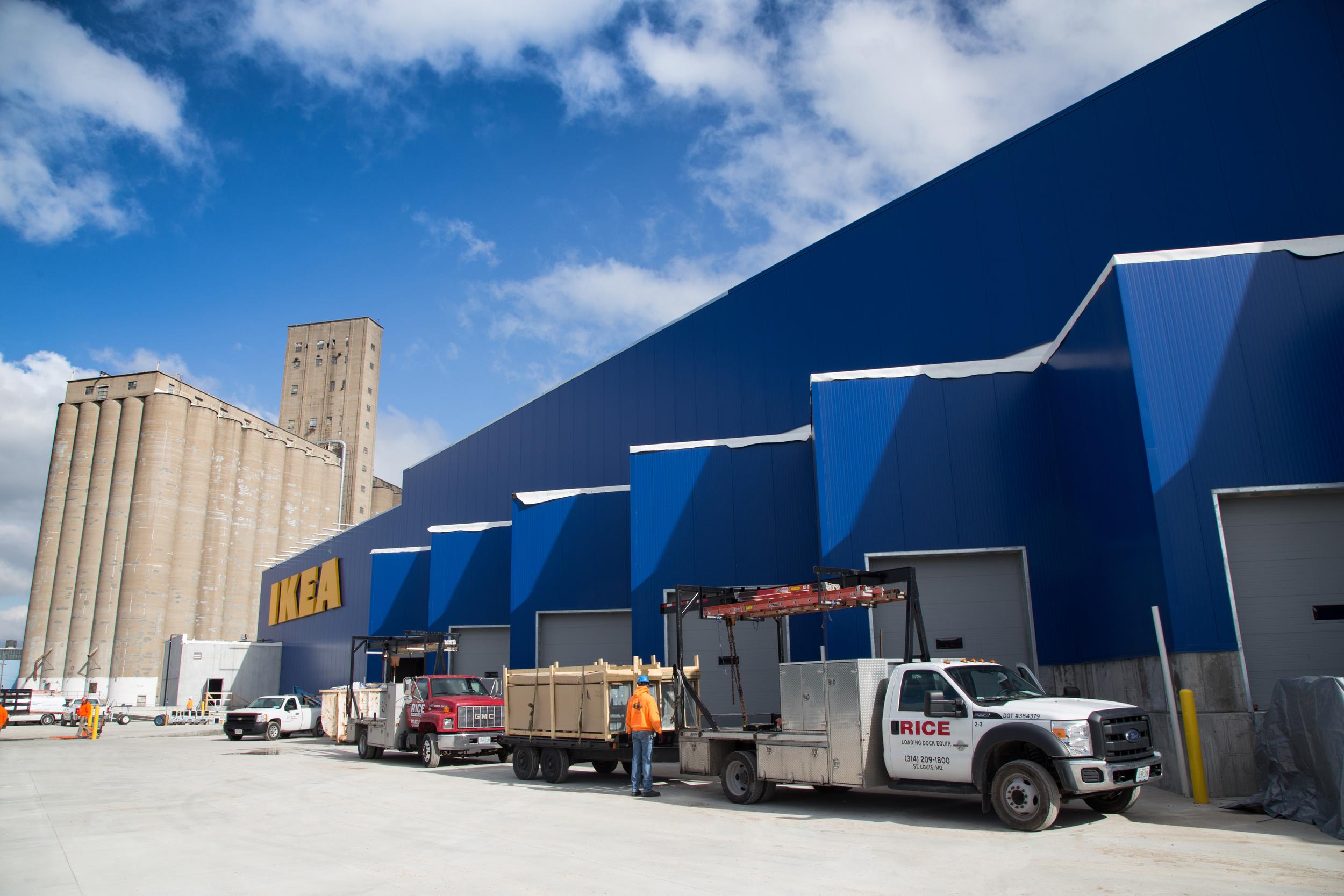 IKEA St Louis Loading Dock Installation Rice Equipment