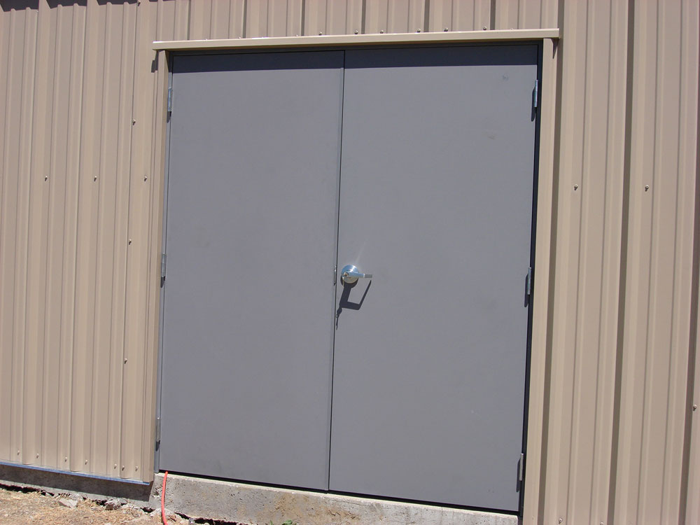 Hollow Metal Entry Doors with Hardware Installation
