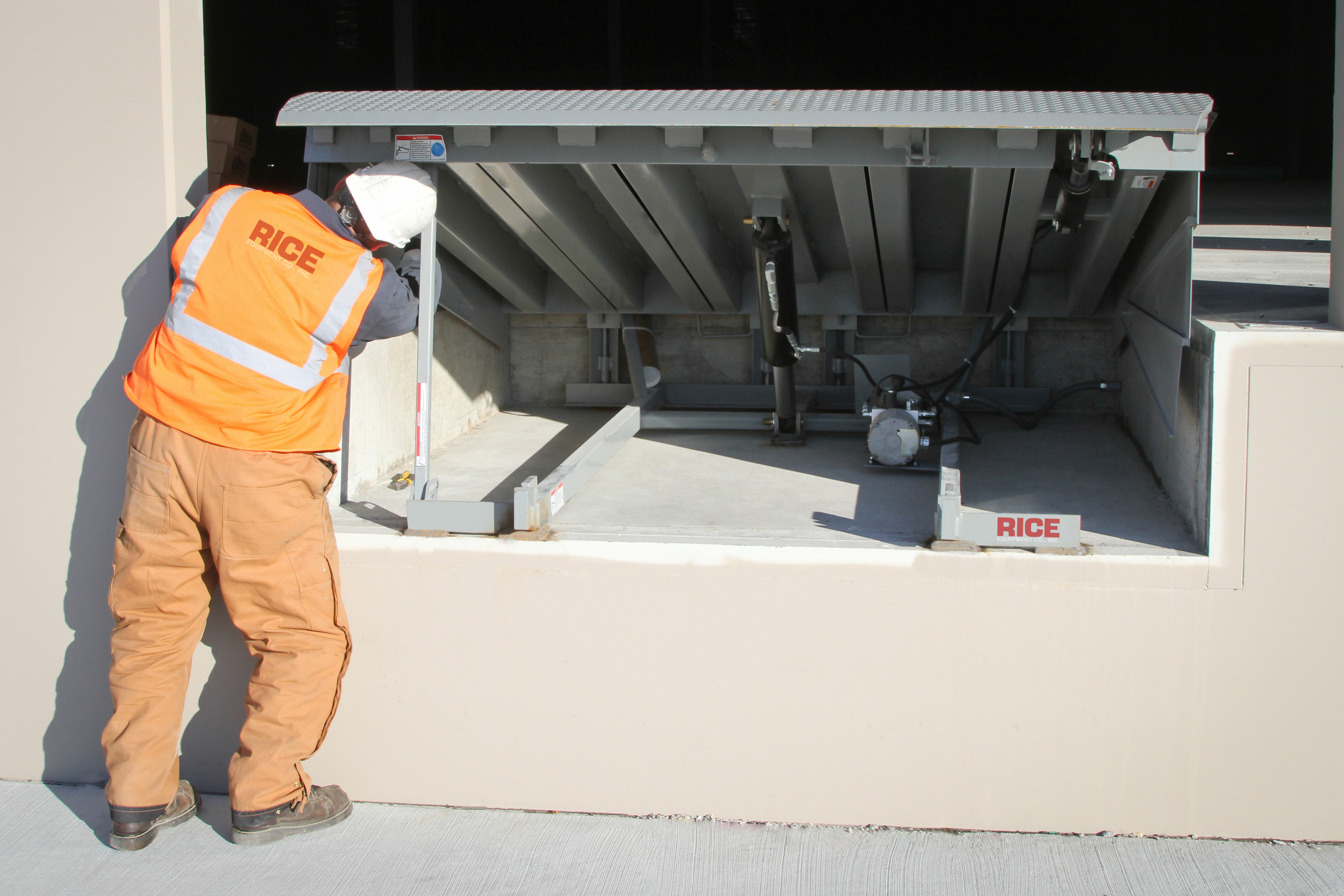 Loading Dock Leveler Plate Repair and Installation Rice Equipment