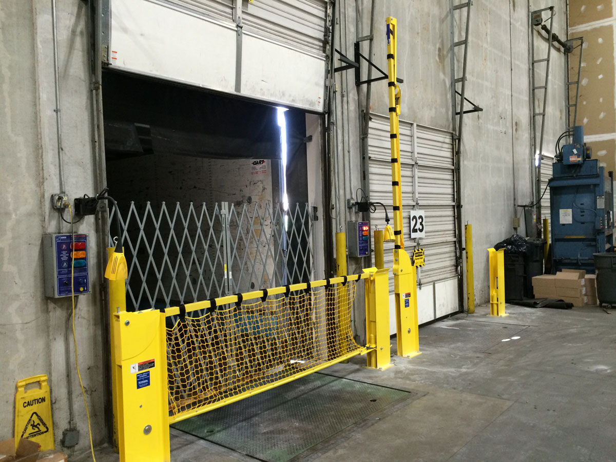 Dock Barrier Crash Gate Loading Dock Protection 10,000lb fork truck impact st louis mo Rice Equipment