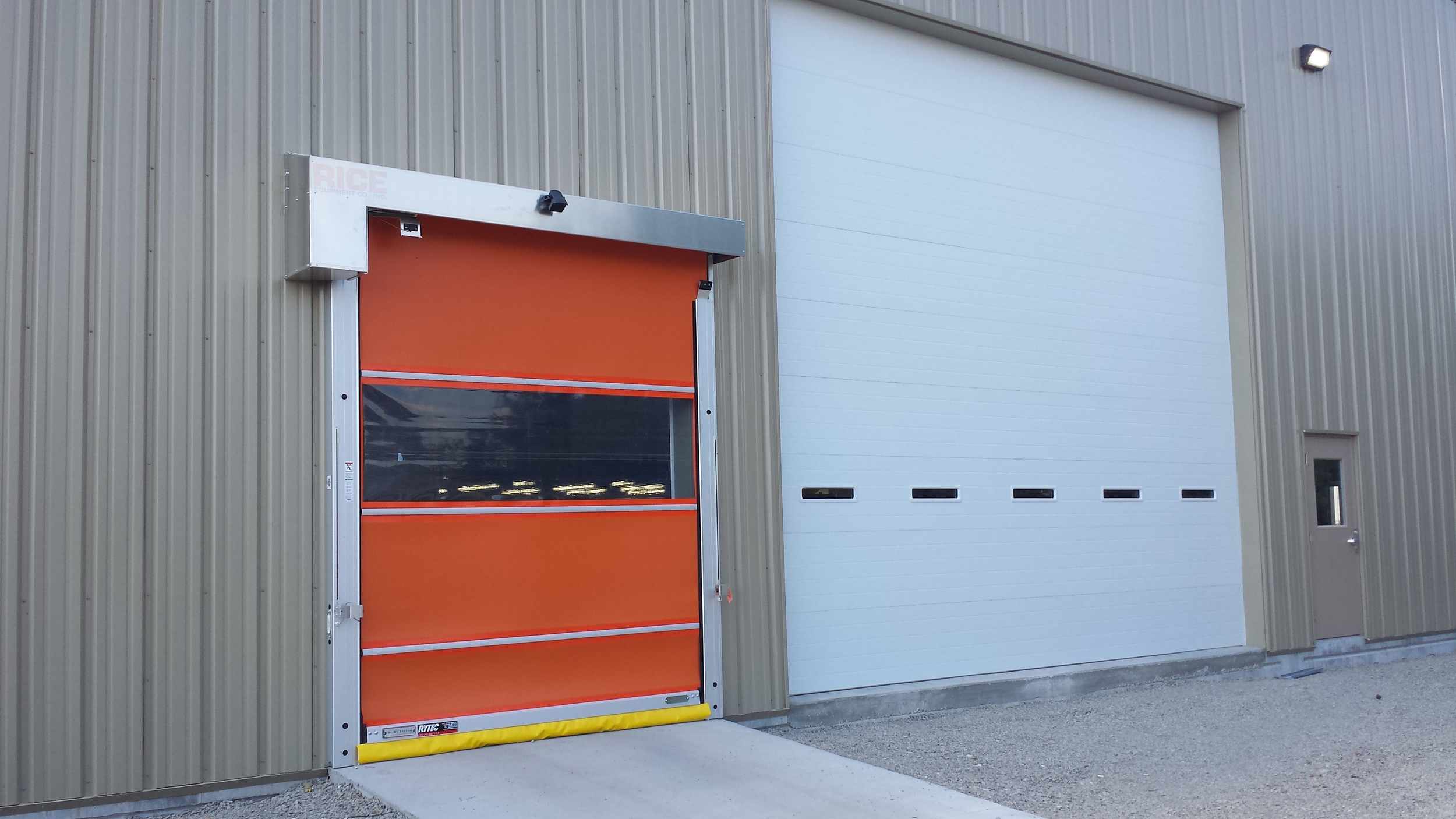 Rytec High Speed Industrial Door Takes an Impact Rice Equipment St Louis IL MO