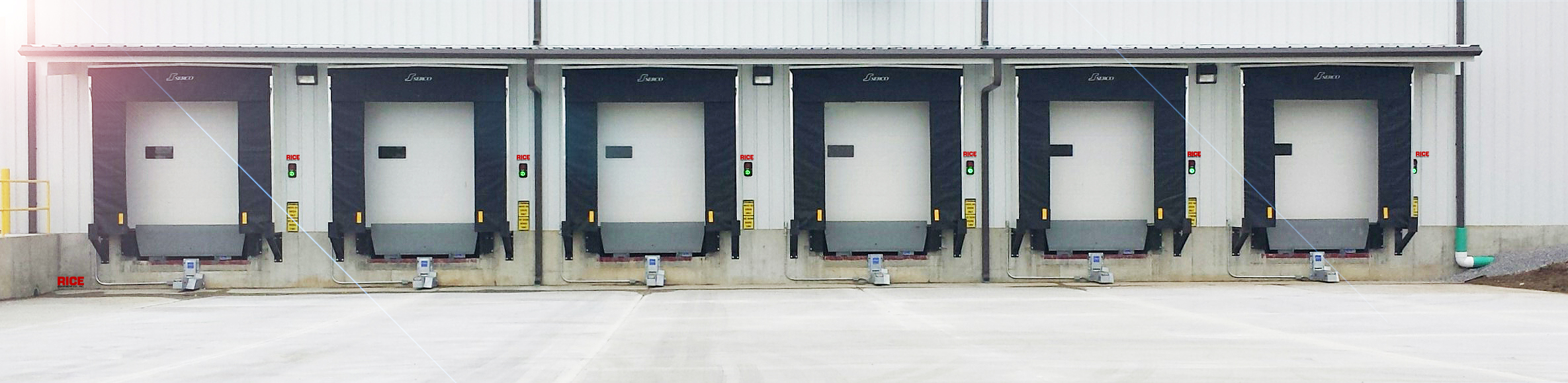 Rigid Frame Dock Shelter Industrial Dock Equipment and Repair Seals Shelters Restraints Levelers Rice Equipment St Louis MO IL