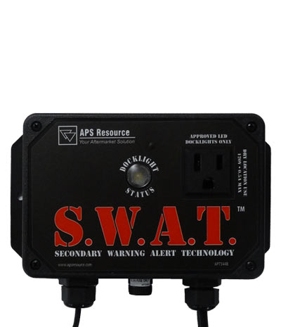 SWAT Secondary Warning Alert Technology Emergency Loading Dock Communication Device Flasher for Trailer Restraints Rice Equipment St Louis MO