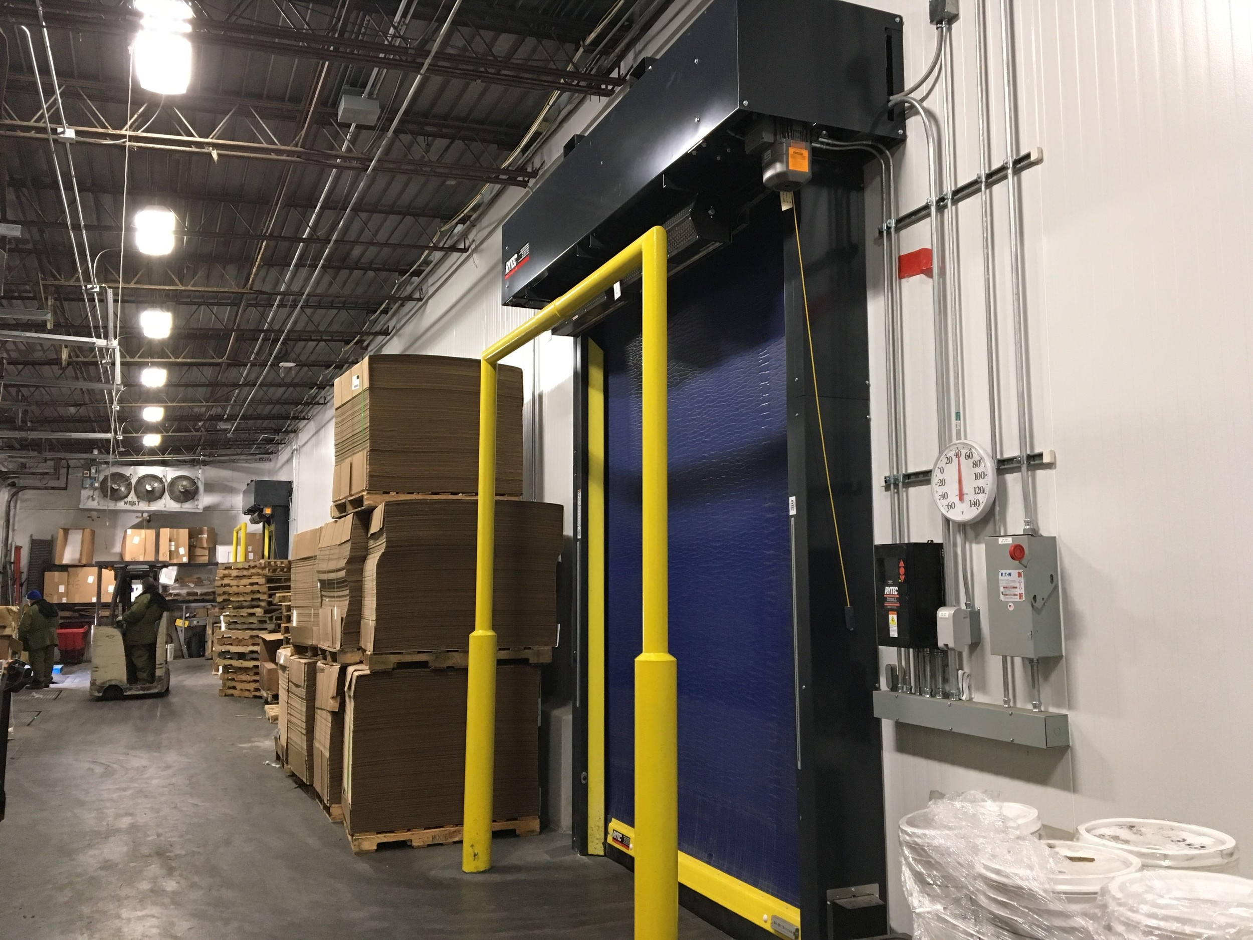 Zip Door High Speed Cold Storage Freezer Door Rytec Albany Dynaco Rice Equipment Door Service St Louis MO IL