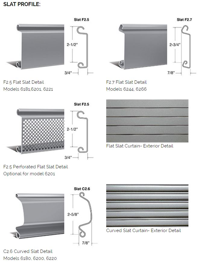 Rolling Steel Roll Up Door Slat Profile Flat Slat Perforated Flat Slat Curved Slat Rice Equipment Dock Leveler Repair Service and Installation St Louis MO