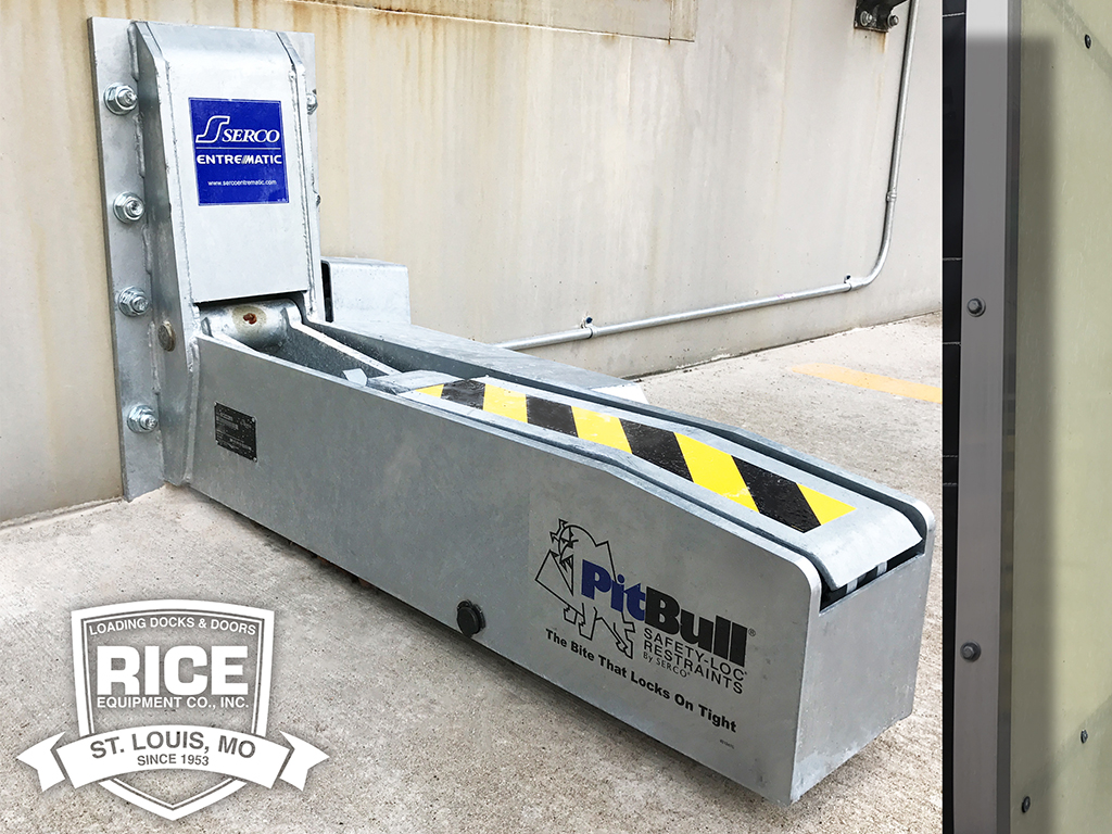 Crop Loading Dock Trailer Restraint PitBull Dock Lock Automatic Safety Engagement for Semi Trailers Rice Equipment St Louis Mo.jpg