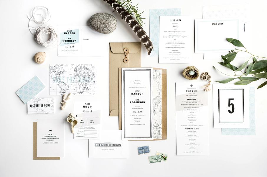 Printable Gazette Suite Hello Tenfold Wedding Invitations