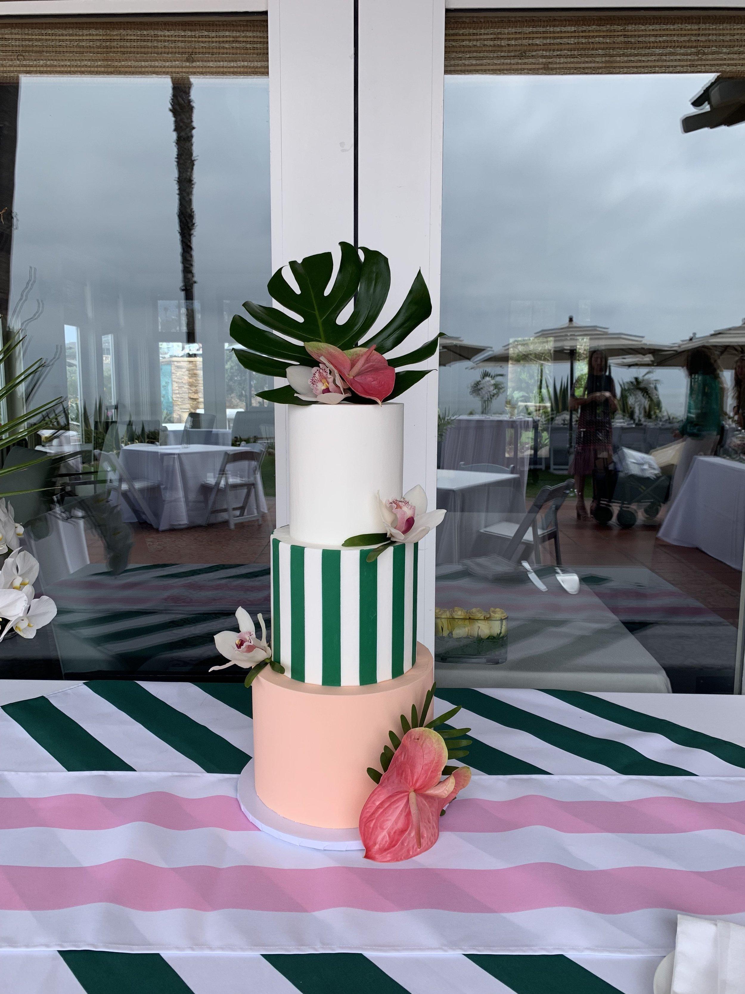 Beverly Hills Themed Bridal Shower Cake
