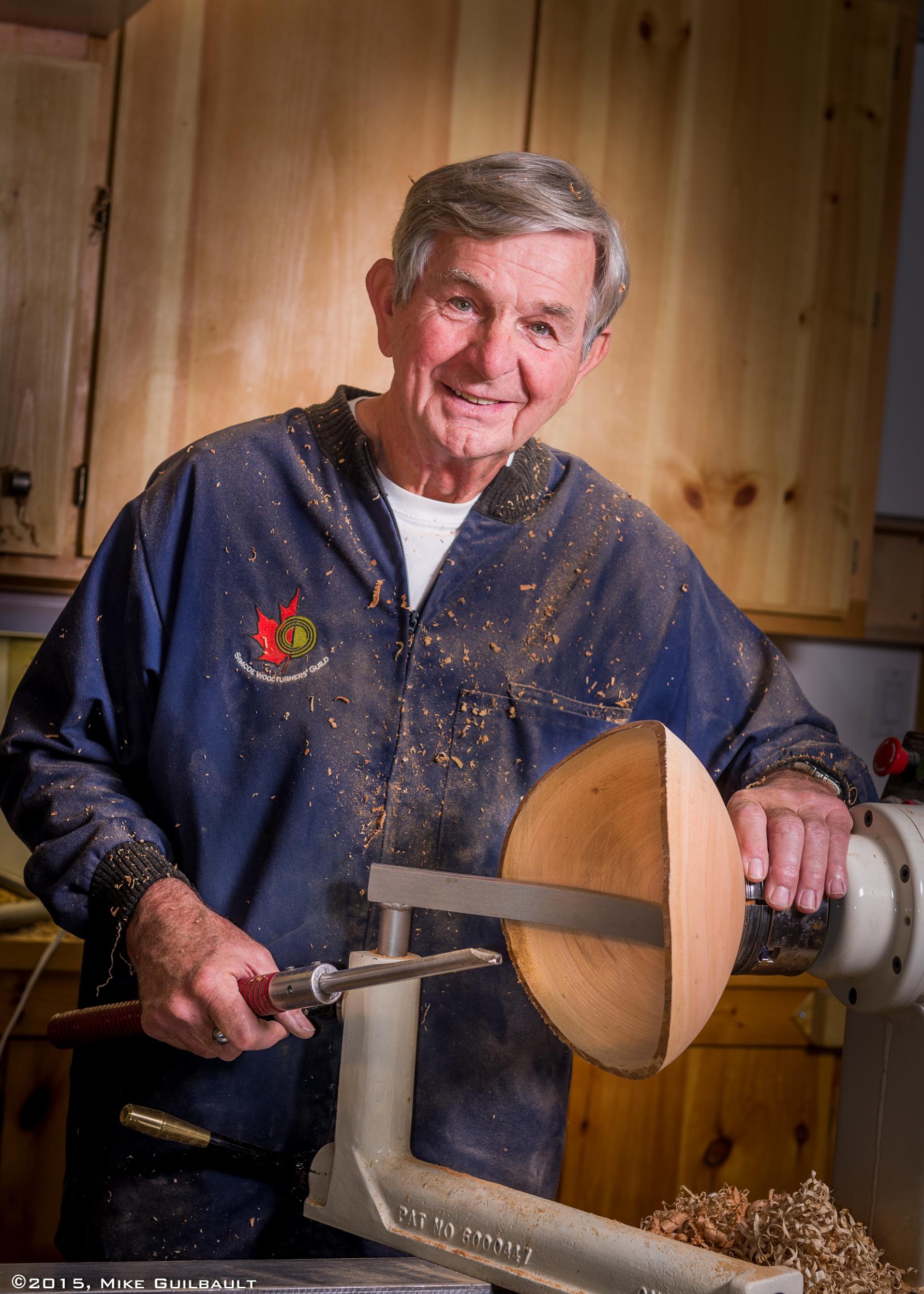 Portrait of a Woodturner