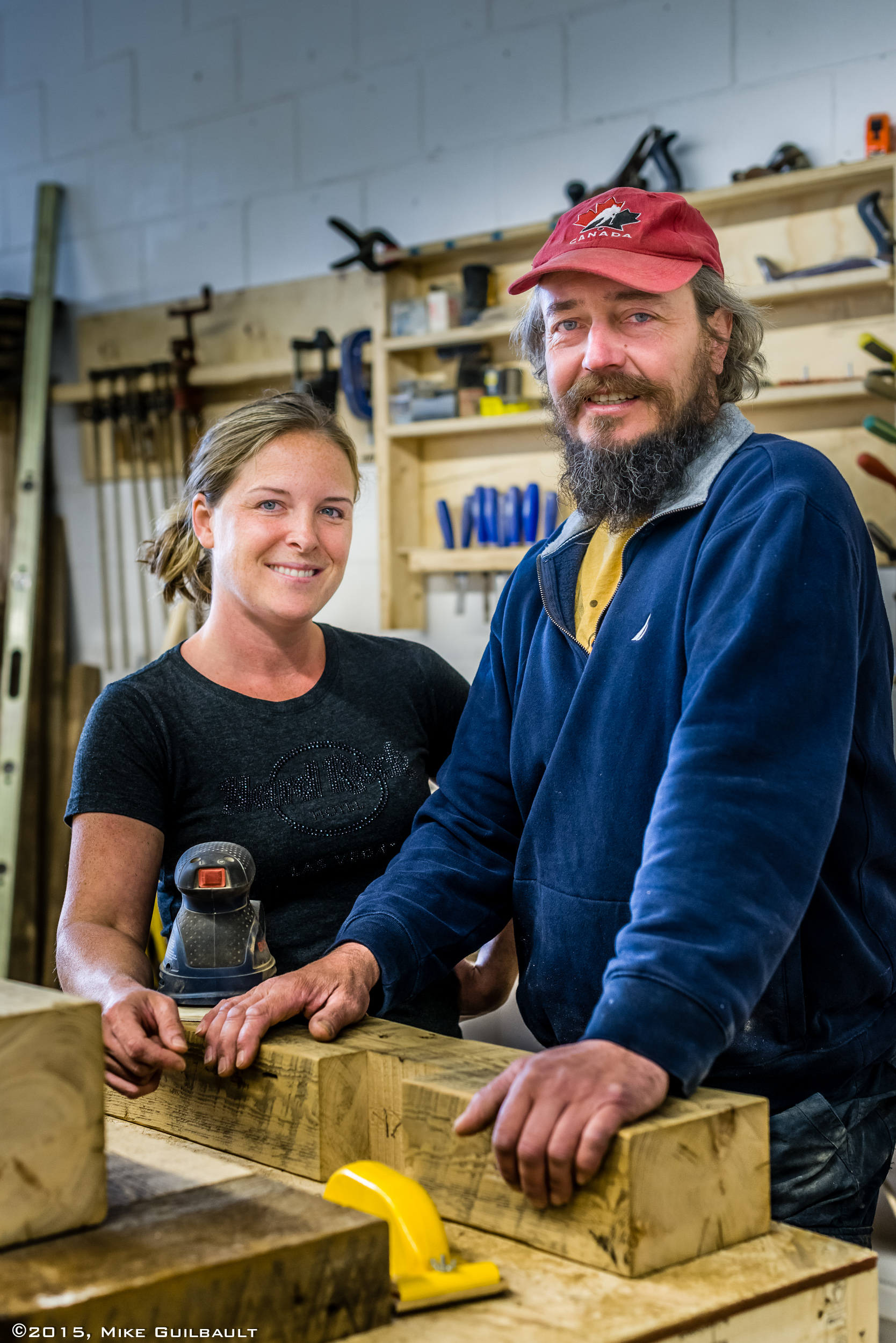 Portrait of a woodworker