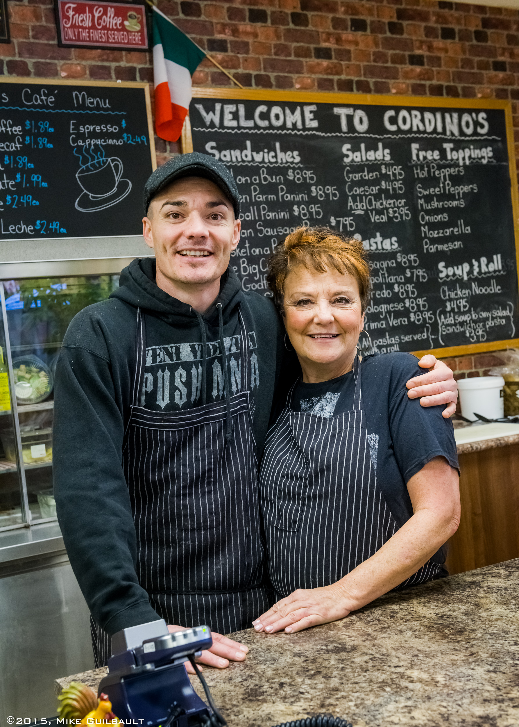 Portrait of Mother and Son business owners
