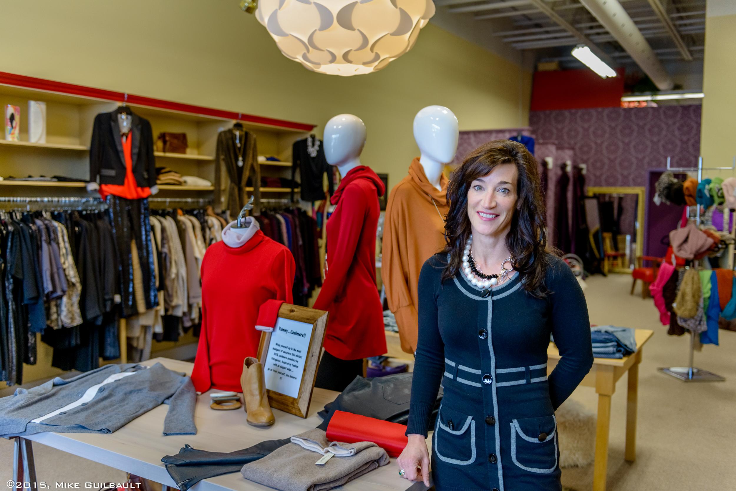 Portrait of retail fashion business owner