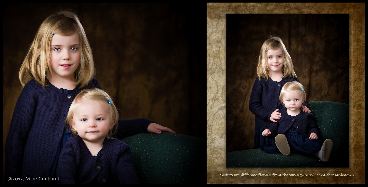 Gift portraits come in popular sizes for easy framing.