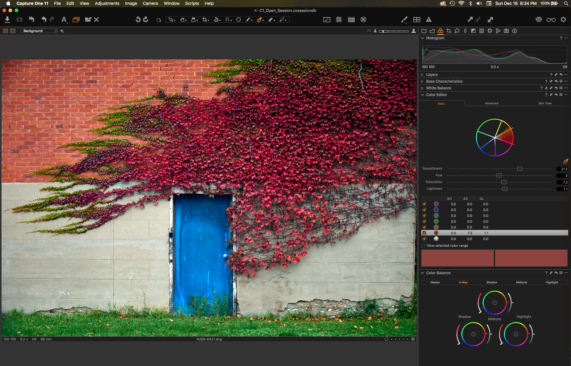 Capture One Pro, colour editing tools