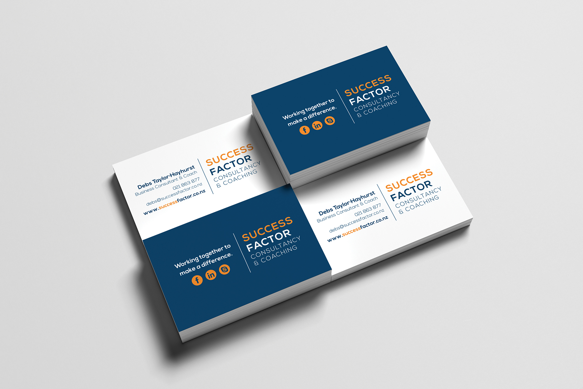 Success Factor Business Card Design.