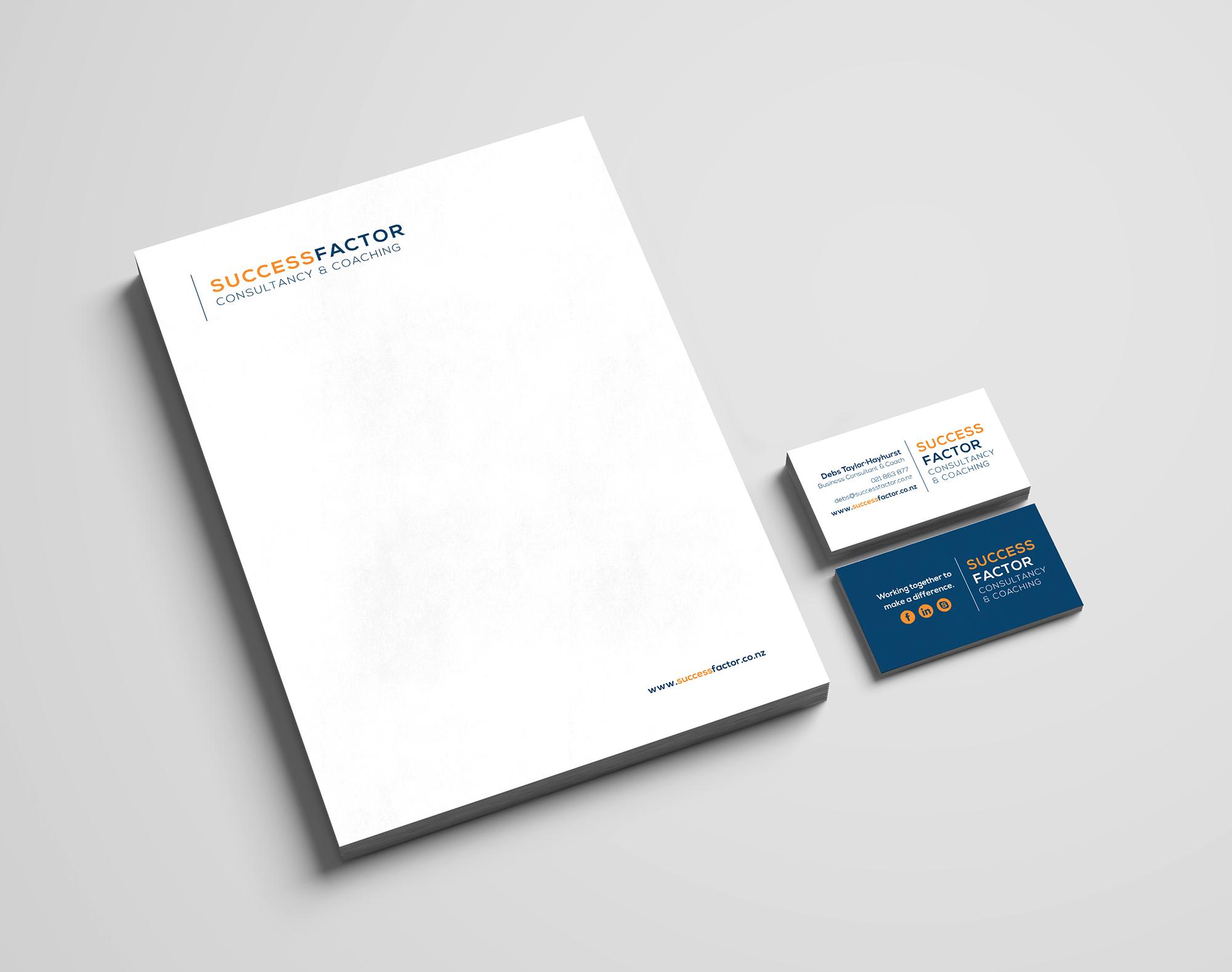 Success Factor Stationery Design.
