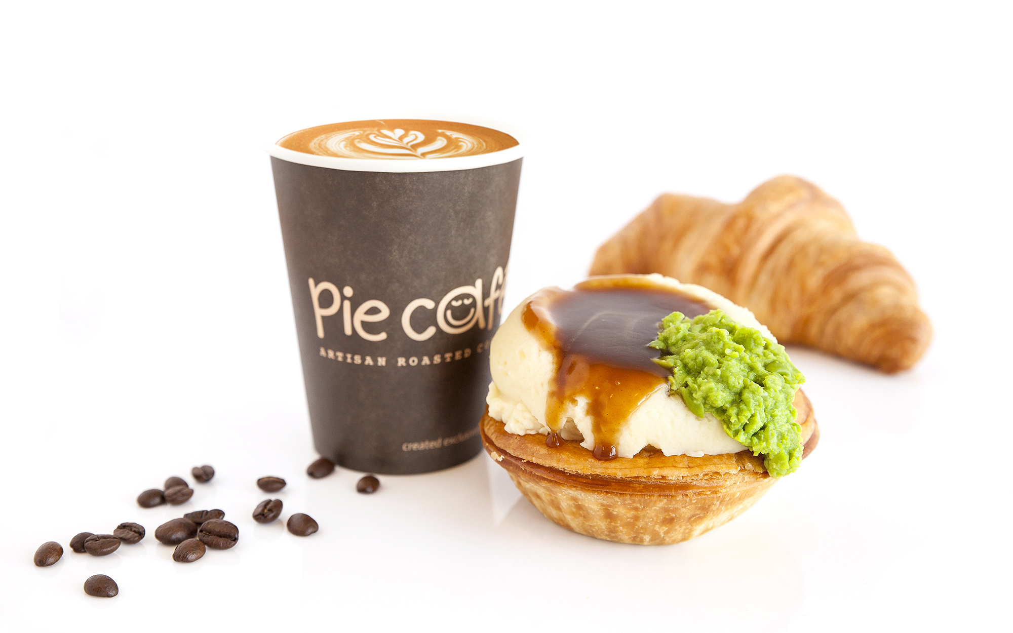 Pie Face Bush Inn Food Photography & Styling - Coffee, Stack & Pastry.