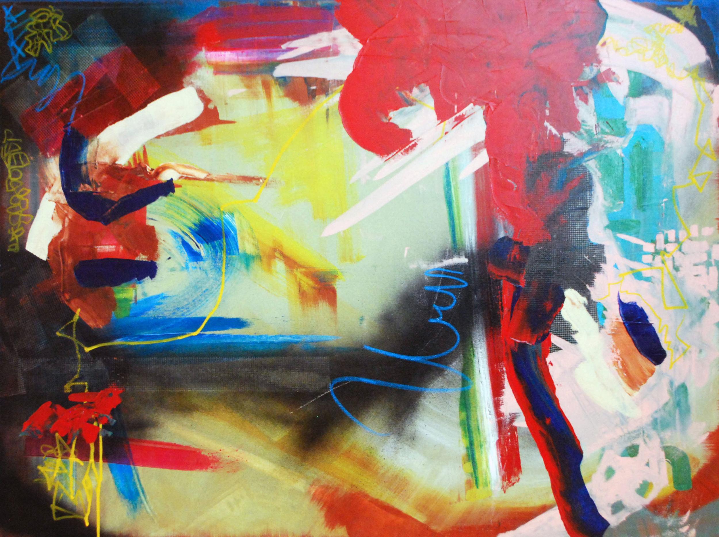 """Acrylic on canvas, 40"""" x 30"""""""