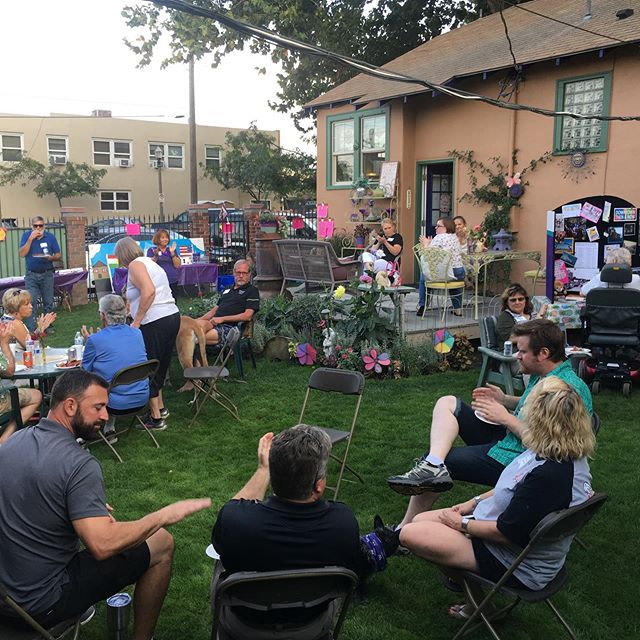 A lovely end to a great day! We closed out Best of Summer Fest 2019 with a neighborhood social hosted by Karen Sullivan and honoring Dog, Bob for his 19th Birthday!  Thank you to everyone who makes Downtown Kennewick the best place to live, work, and play! #downtownkennewick #historicdowntownkennewick #kennewick #bestofsummerfest2019  @downtownkennewick @funwith_foodies @edandmoespawn @bffair @prohibitionglass