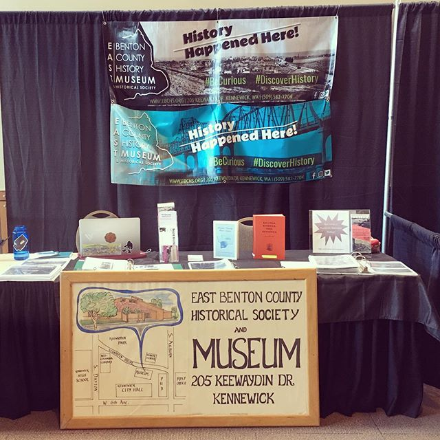 Learn about the coolest local history at the Tri-Cities Women's Expo!  We have our information booth set up all weekend. We brought our scrapbooks and on Friday our digital collection of photos is available!  We can't wait to share what's new at the East Benton County History Museum.