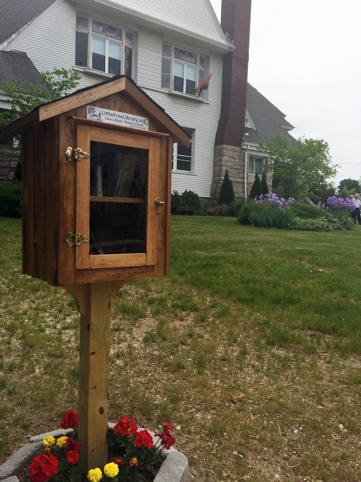 Come visit our Little Free Library right on the front lawn!