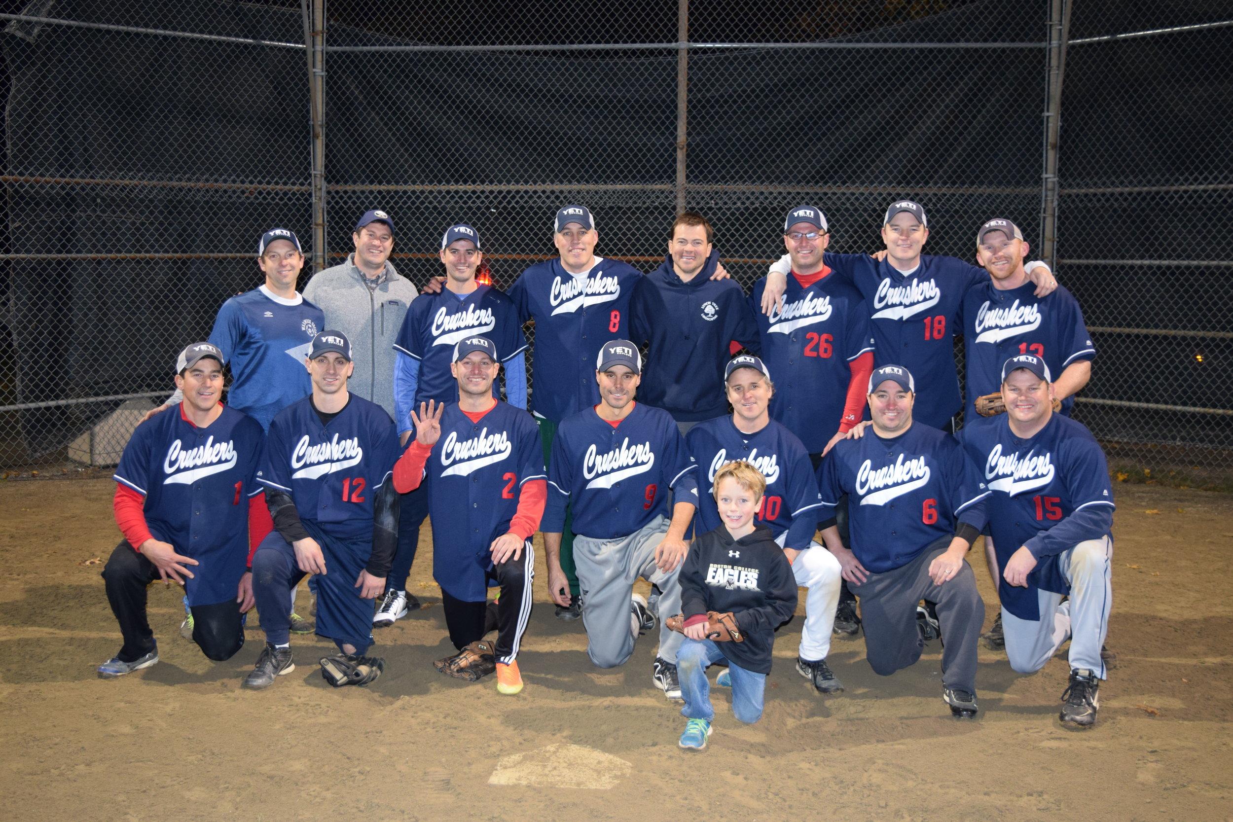 Cochituate Crushers - 2016 Fall Wayland Softball Champions