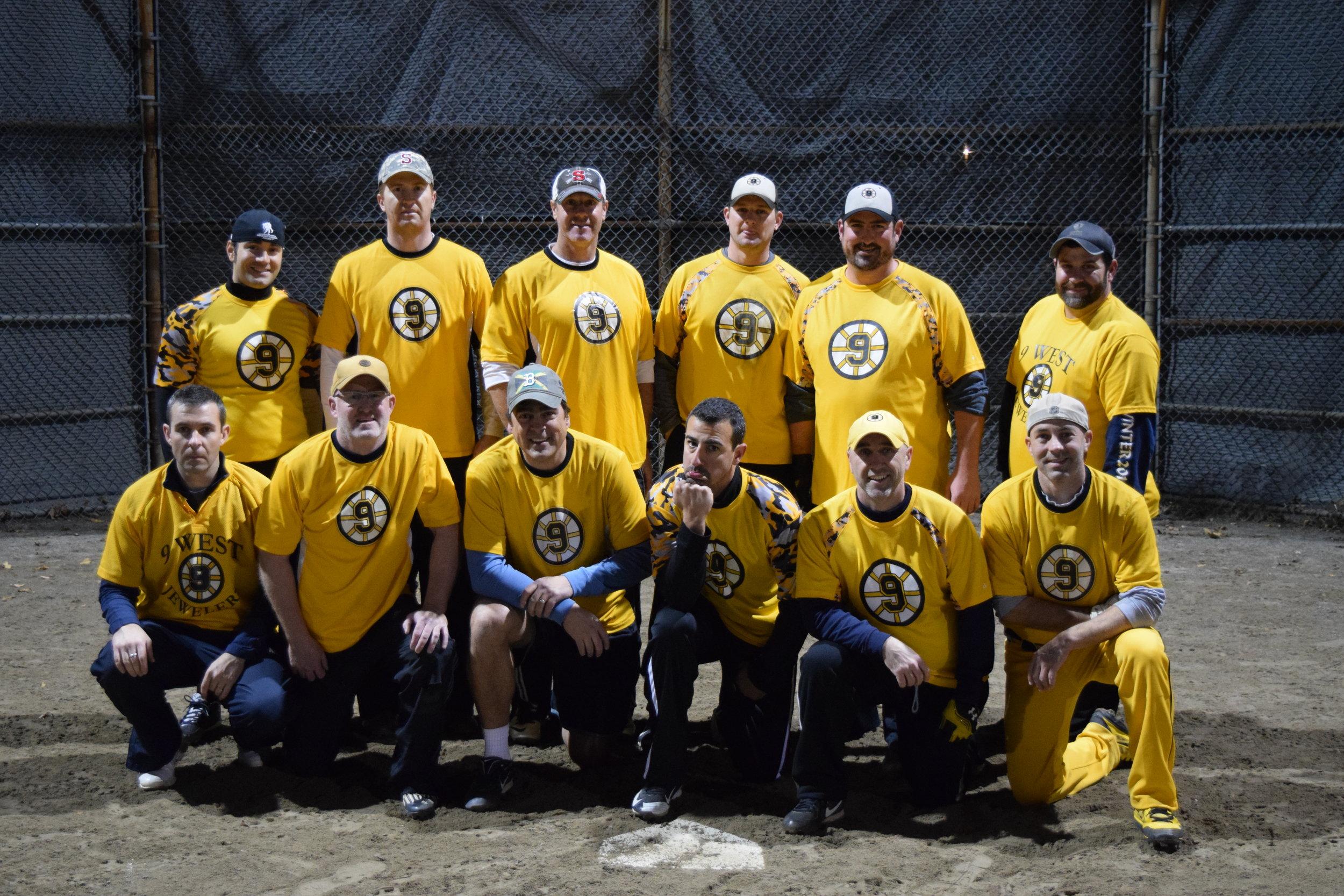 The Yellow Team - Runner-ups for the 2016 Fall Wayland Men's Softball Season
