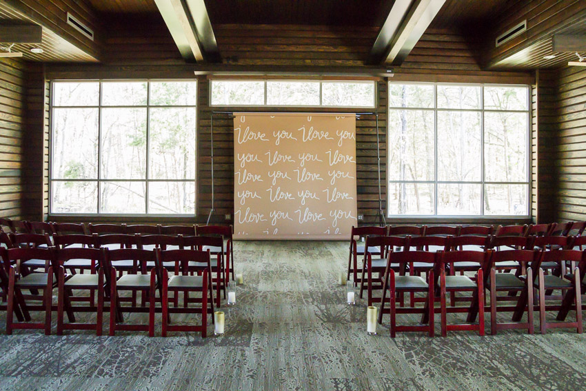 A beautiful indoor ceremony option