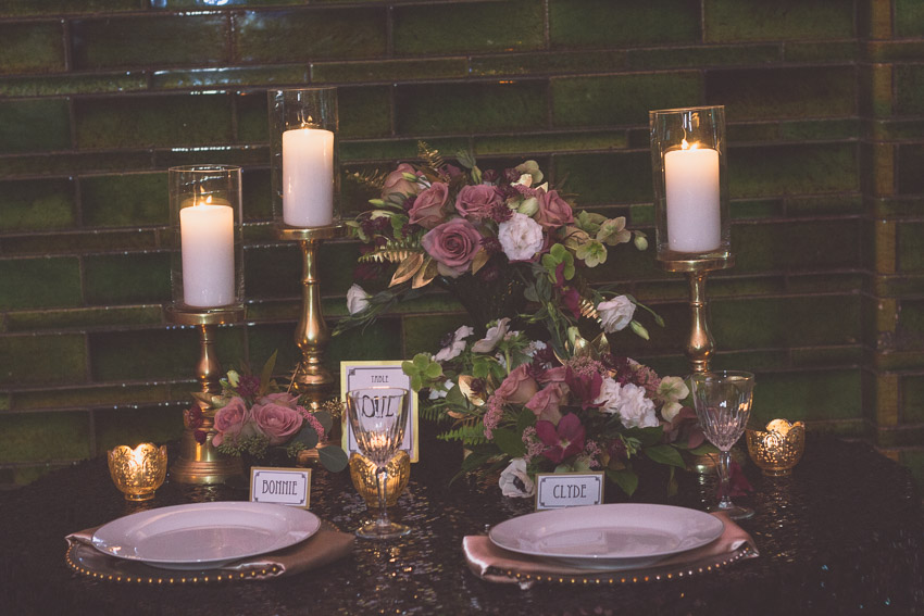 Bonnie and Clyde Styled Wedding