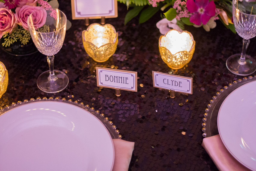 Table Scape for Bonnie and Clyde Styled Wedding