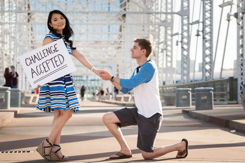 Pedestrian Bridge Nashville Engagement Session