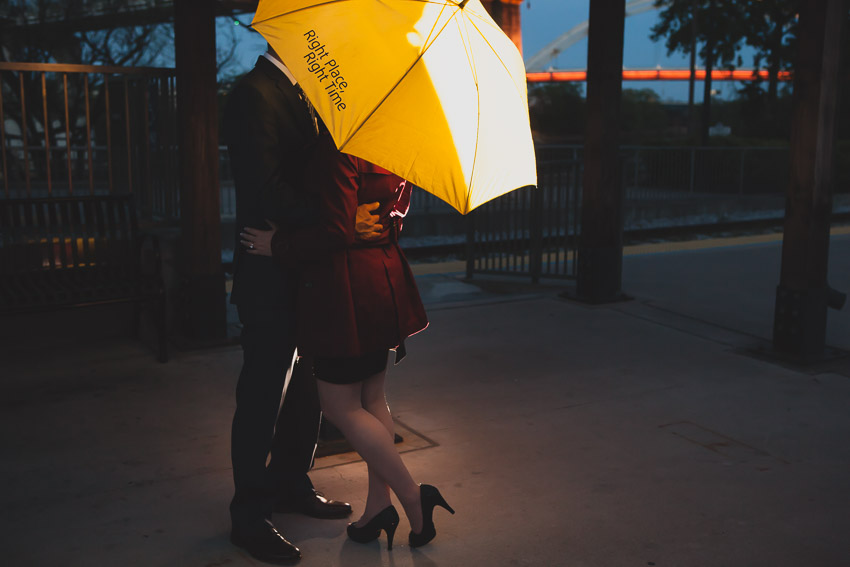 Riverfront Station in Nashville was perfect for this themed  How I met your mother  engagement session photos in Nashville.