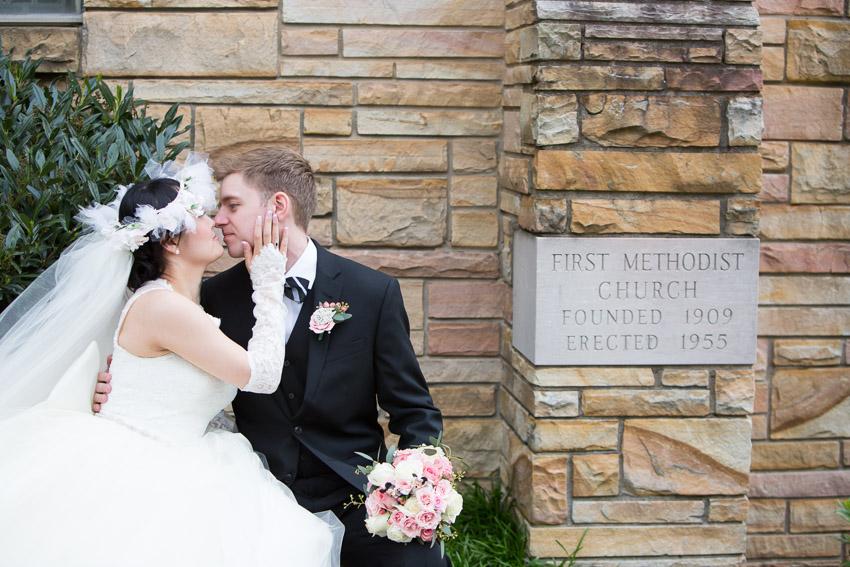 The same church his parents were married at. First Methodist Church