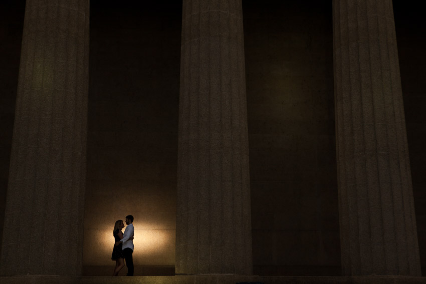 The Parthenon in Nashville is such a beautiful location for an Engagement Session