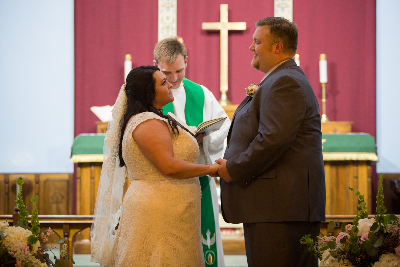 This very sweet couple were married in Nashville at Concordia Lutheran