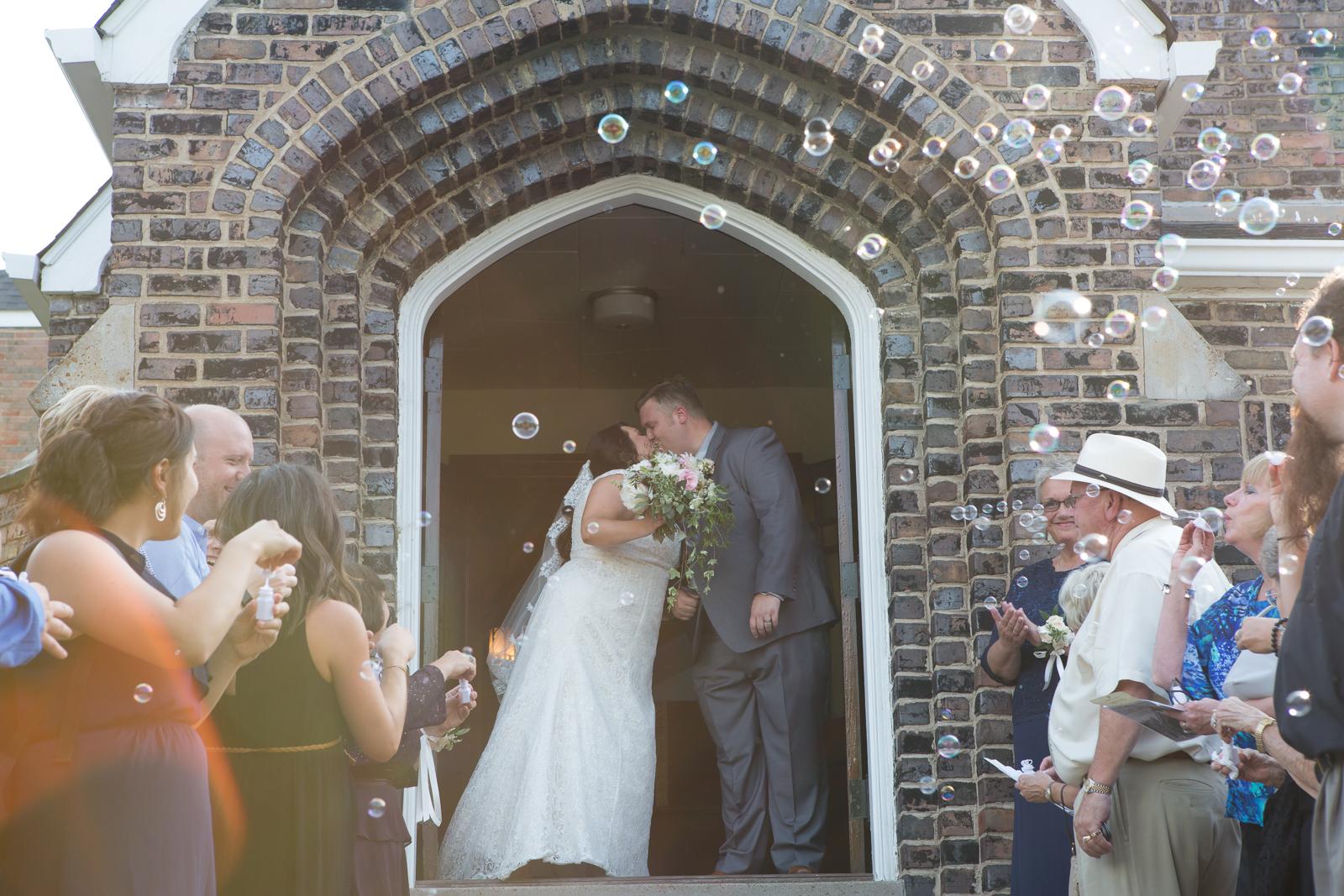 Bubble Exit Nashville Wedding