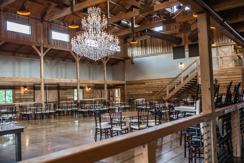 The grand hall is such a beautiful space with the chandelier taking center stage. Can't you just visualize your first dance here?